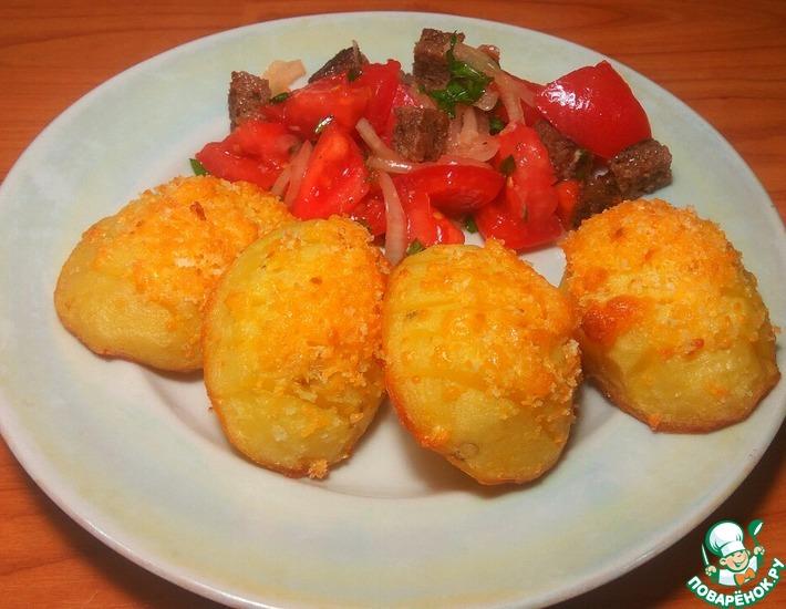 Рецепт: Картофель с сыром и хлебной крошкой