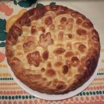 Пирог с индейкой, овощами и сыром