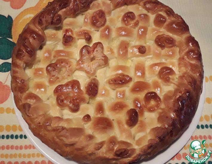 Рецепт: Пирог с индейкой, овощами и сыром