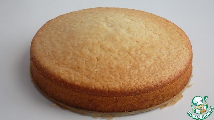 Постный лимонный бисквит