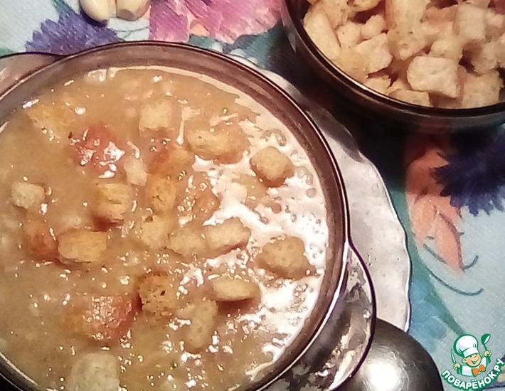 Рецепт: Быстрый гороховый суп с беконом
