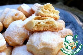 Рецепт: Слоеное печенье Наполеон
