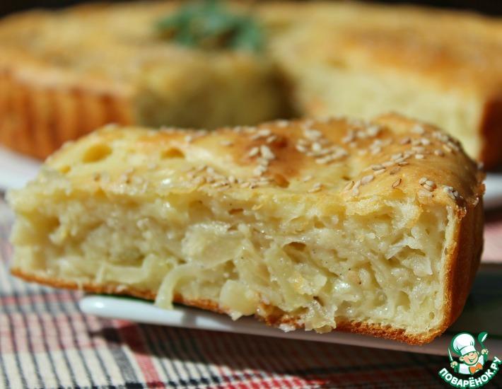 Рецепт: Пирог с капустой Нежный