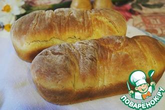 Рецепт: Домашний хлеб с укропом и чесноком