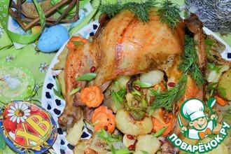 Рецепт: Курица пряно-пьяная