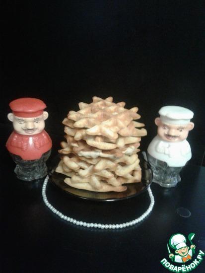 Бисквитные вафли с яблоками