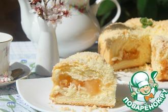 Рецепт: Яблочный пирог Сливочный