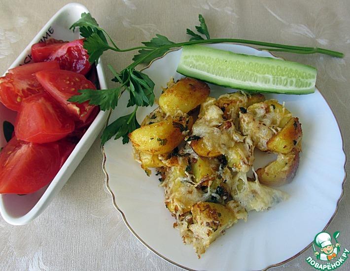 Рецепт: Запеченный под сыром картофель А-ля Айдахо