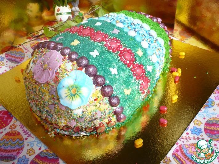 """Праздничный торт к Пасхе """"Пасхальное яйцо"""""""