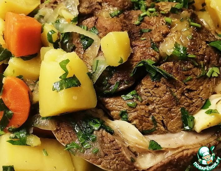Рецепт: Томленая говядина с овощами