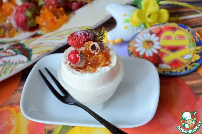 """Творожный десерт """"Яйца всмятку"""""""