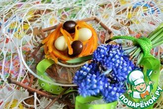Рецепт: Пасхальный декор Апельсиновая солома