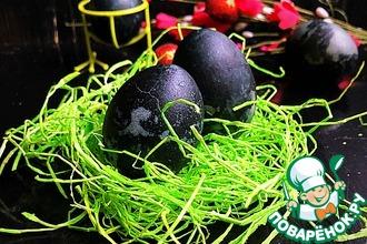 Рецепт: Крашенки к Пасхе «Драконьи яйца»
