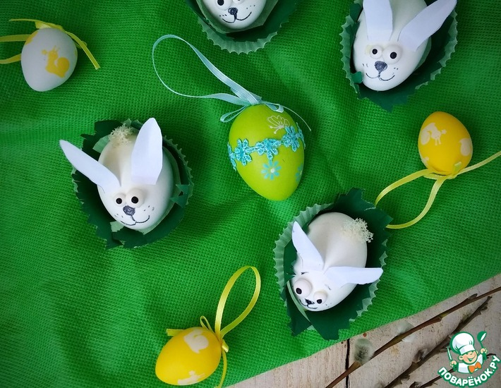 Рецепт: Яйца Зайчики