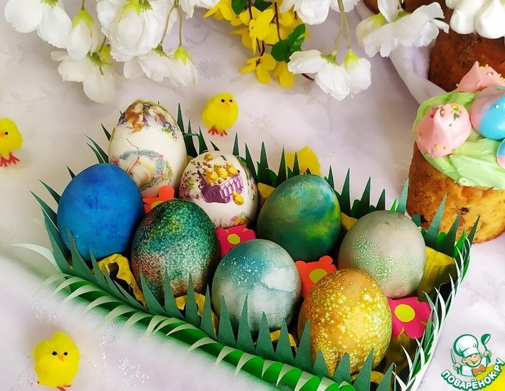 Рецепт: Пасхальные яйца Млечный путь