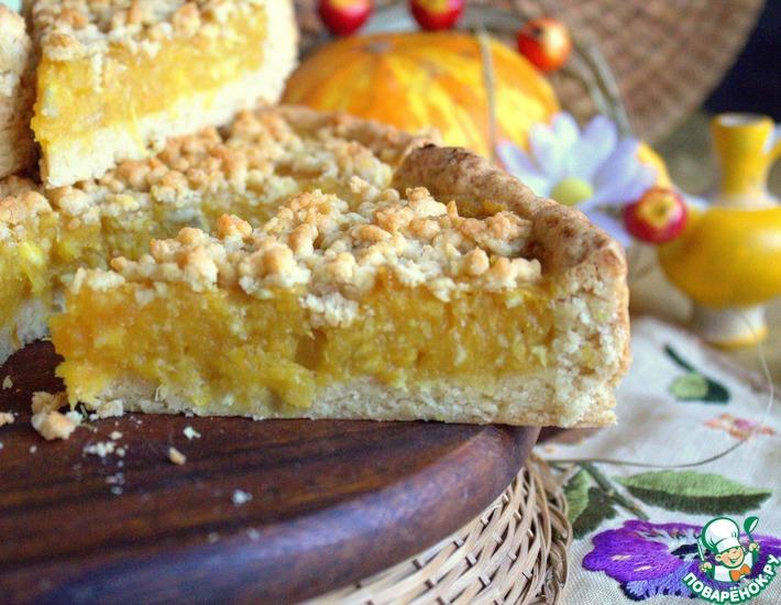 Рецепт: Песочный пирог Цитрус и тыква