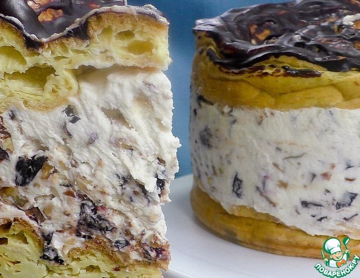 Рецепт: Торт с черносливом и орехами