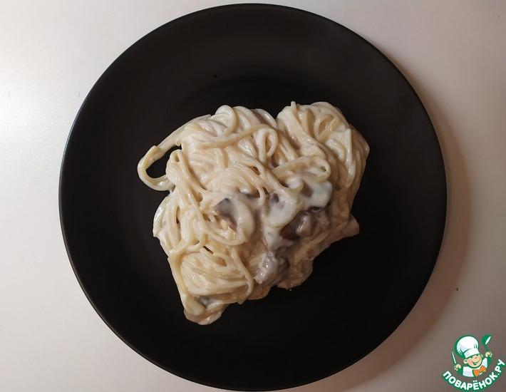 Рецепт: Паста с грибами под соусом бешамель