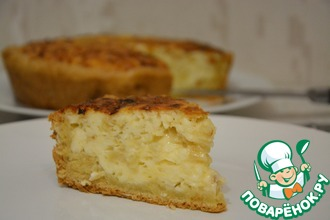 Рецепт: Открытый пирог из плавленых сырков