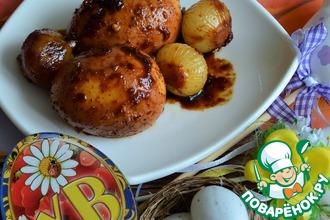 Рецепт: Яйца в соевом соусе