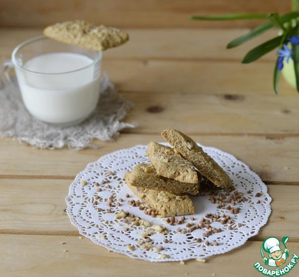 Гречневое печенье с грецкими орехами