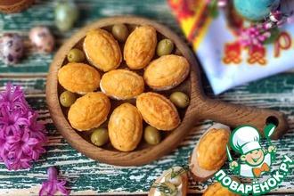 Рецепт: Куриные орешки с брынзой и оливками