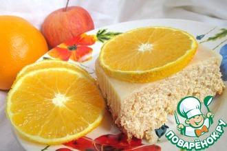 Рецепт: Творожная запеканка без сахара Апельсиновое яблоко
