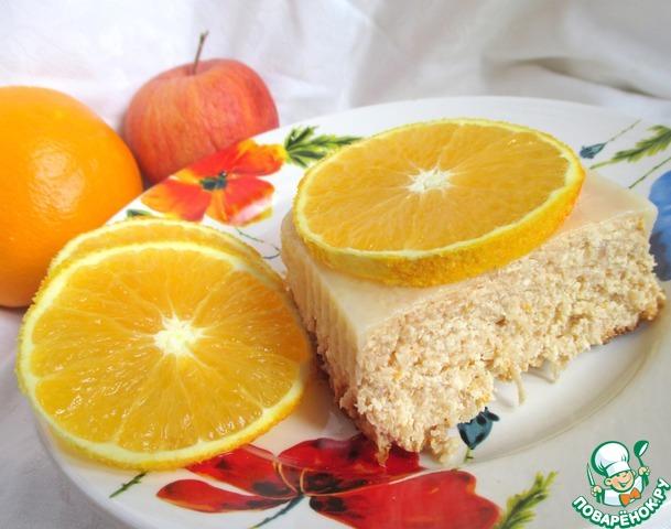 """Творожная запеканка без сахара """"Апельсиновое яблоко"""""""