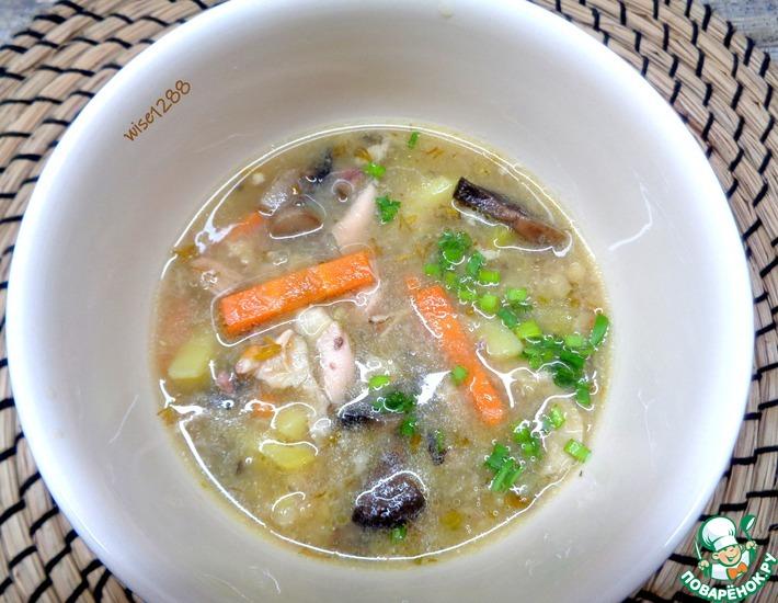Рецепт: Суп бобовый с грибами