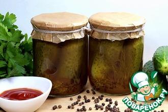 Рецепт: Огурцы с кетчупом на зиму
