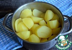 Картофельное пюре с варёными желтками фото