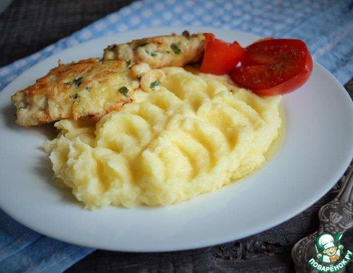 Рецепт: Картофельное пюре с варёными желтками