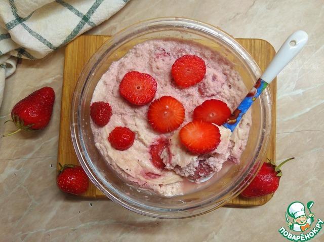 Творожная запеканка с ягодами в СВЧ