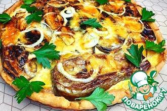 Рецепт: Пицца с баклажанами