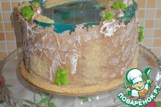 Рецепт: Торт для жаркой погоды Мега стабильный