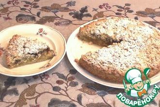 Рецепт: Яблочный песочный пирог крамбл