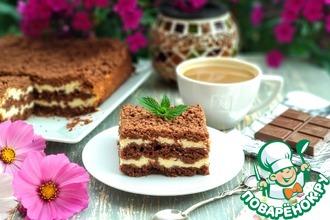 Рецепт: Творожный пирог с шоколадной крошкой
