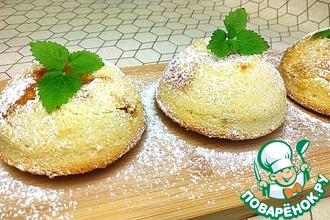 Рецепт: Мини-шарлотки с яблоками и карамелью