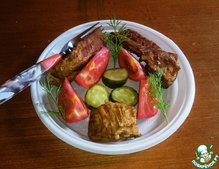 Рецепт: Свиные ребрышки для пикника
