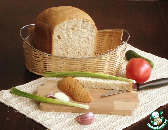 Рецепт: Хлеб с цельнозерновой мукой и семечками