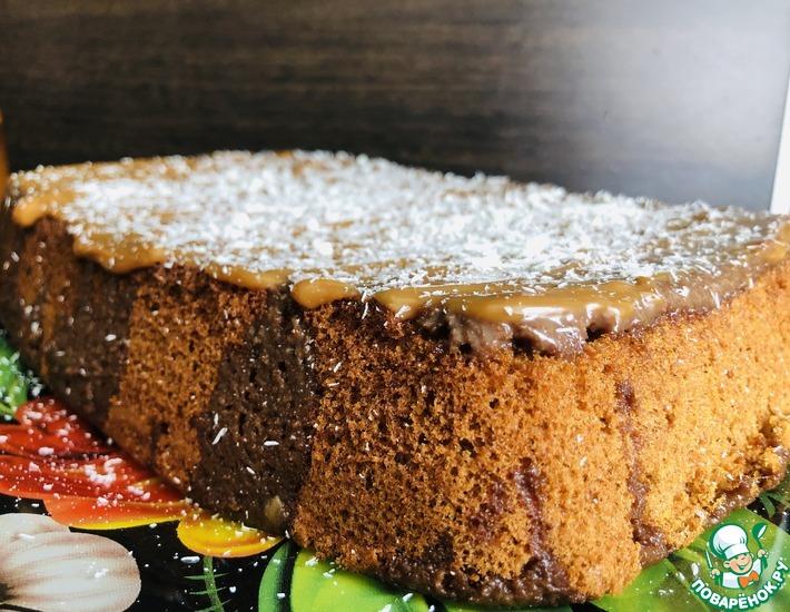 Рецепт: Влажное шоколадное пирожное