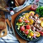 Стейк-салат с бедром индейки