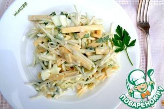 Рецепт: Салат с кольраби и сыром