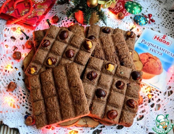 Рецепт: Песочное печенье Шоколадка