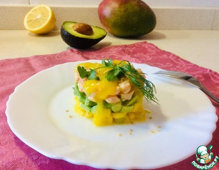 Рецепт: Тартар «Радужный» из лосося