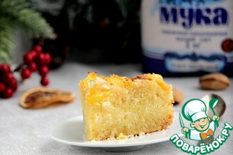 Рецепт: Миндальный пирог с творогом и апельсином