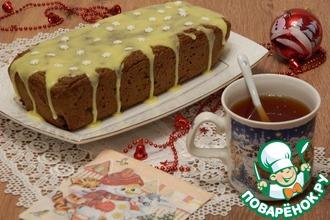 Рецепт: Посный яблочный кекс с сухофруктами