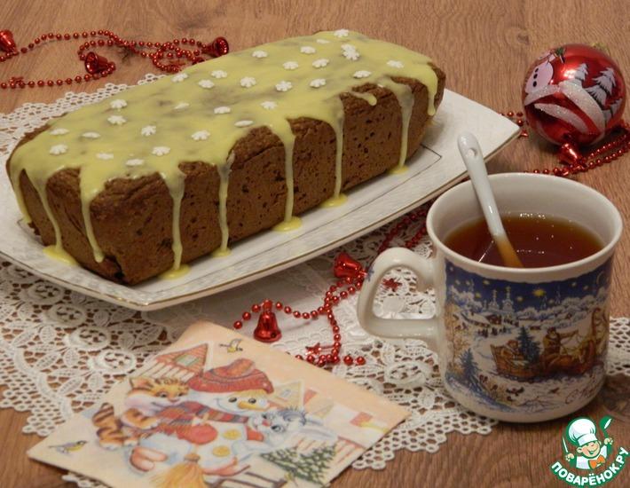 Рецепт: Постный яблочный кекс с сухофруктами