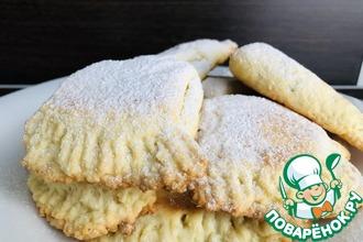 Рецепт: Печенье Уголки с яблоком