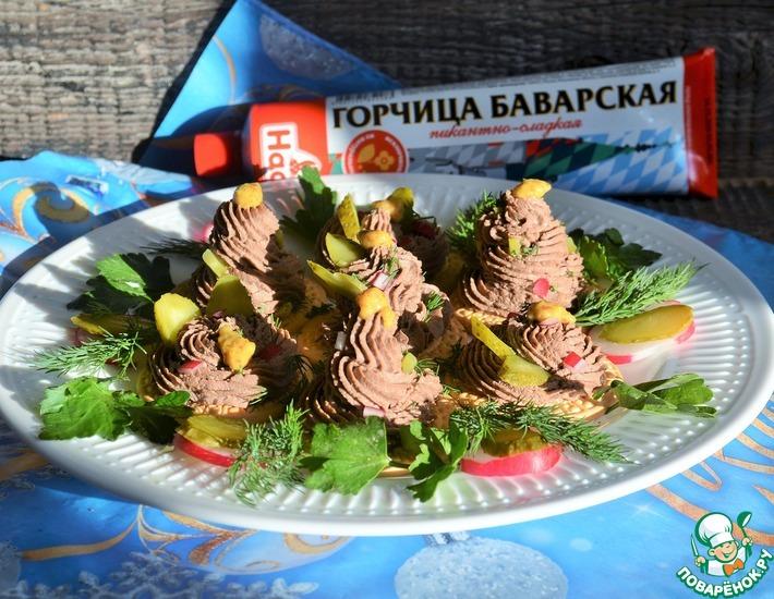 Рецепт: Печёночный паштет с коньяком и горчицей